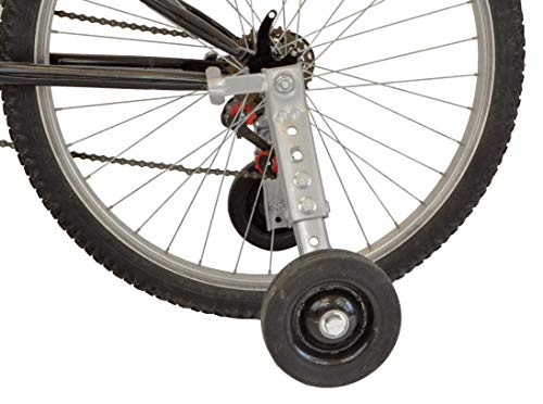 "Heavy Duty Adjustable Bike Training Wheels for 24"" and 26"" Bicycles"