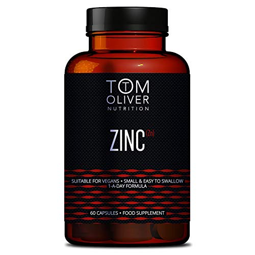 Tom Oliver Nutrition - Zinc Picolinate (60 Capsules) - 15mg - One A Day Formula
