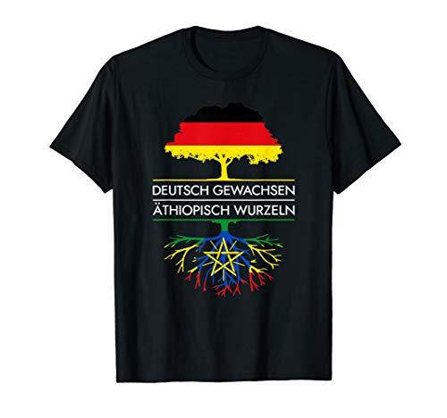 Deutsch Gewachsen Äthiopisch Wurzeln - Äthiopien T-Shirt