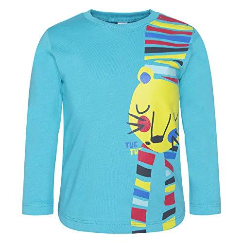 Camiseta Punto Tigre NIÑO Azul Crazy Tiger
