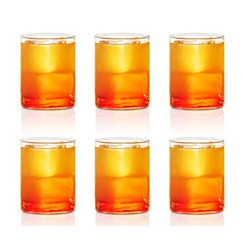 Borosil VCJ120 Vision Classic Juice Glass [Set of 6] Clear Lightweight & Durable Drinkware, Odor Resistant, Dishwasher Safe - Glass for Water, Juice, Beer, Wine, and Cocktails | 4 Ounce Cups