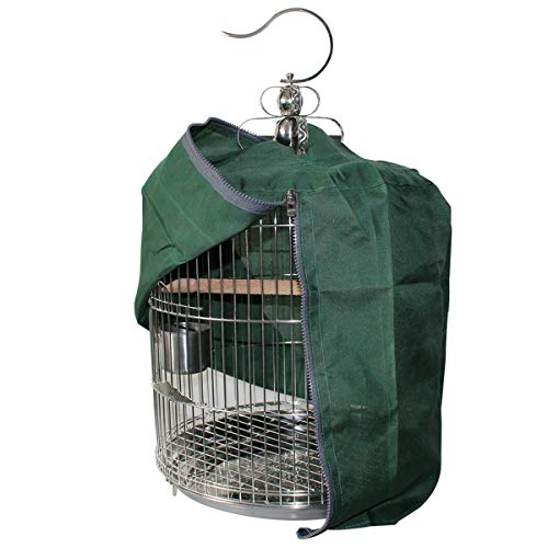 Camidy Bird Cage Cover, Sunproof Pet Bird Cage Shade Windproof Bird Parrot Sleep Helper Products Rainproof Cover for Round Bird Cage