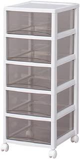 アイリスオーヤマ チェスト スーパークリア 5段 幅32×奥行39×高さ83.2cm ホワイト / クリアブラウン 白 プラスチック SCE-050