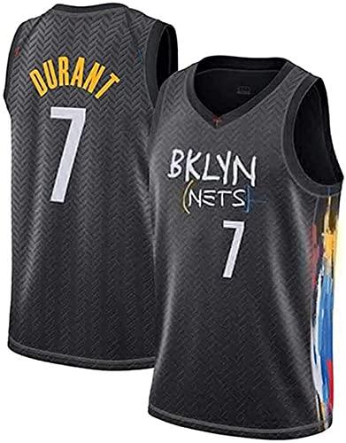 ZRHZB Brooklyn Nets #11 Irving #7 Durant Camiseta de Baloncesto para Hombre Transpirable Resistente al Desgaste Camiseta(Tamaño: S-XXL),A,M