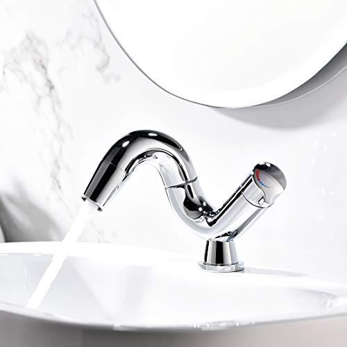 Aimadi Design Mischbatterie Bad Wasserhahn Badarmatur Waschtischarmatur Waschbeckenarmatur Waschbecken Badezimmer Chrom - 2