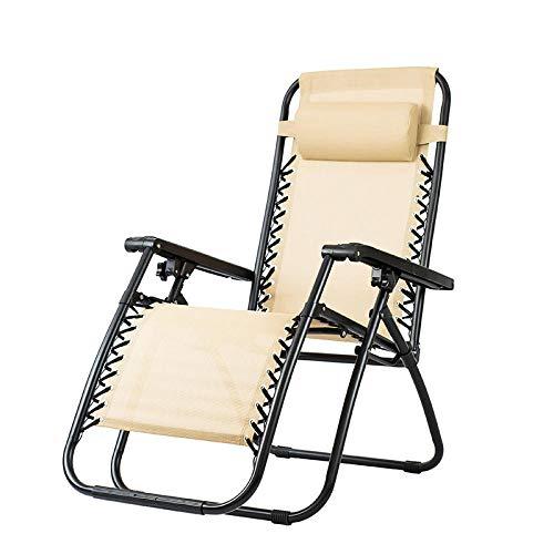 KaO0YaN Sedia pieghevole per il tempo libero, multifunzionale, pieghevole, sedia per pausa pranzo, sedia da ufficio pisolino-bianco