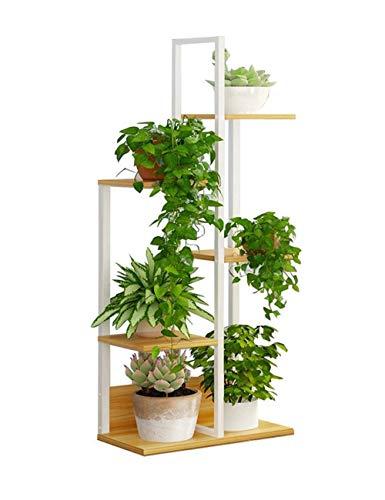 MingXinJia Soporte para Flores Soporte para Flores de 5 Capas Estante de Exhibición de Productos de Metal de Hierro Estante de Almacenamiento de Jardín Estante Exterior Hay 6 Soportes para Macetas De