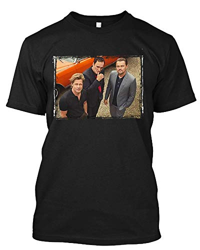 #Brad #Pitt Once Upon A Time. in Hollywood (2019) W/Quentin #Tarantino T Shirt Gift Tee Black