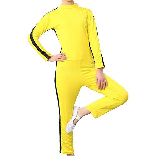 Daytwork Kampfsport Bekleidung Unisex Kinder Erwachsene Overall Kung Fu - Kostüm Outfit Rollenspiel Body Anzug Kampf Film Kleidung Strampler Training Leistung Sportbekleidung Gelb