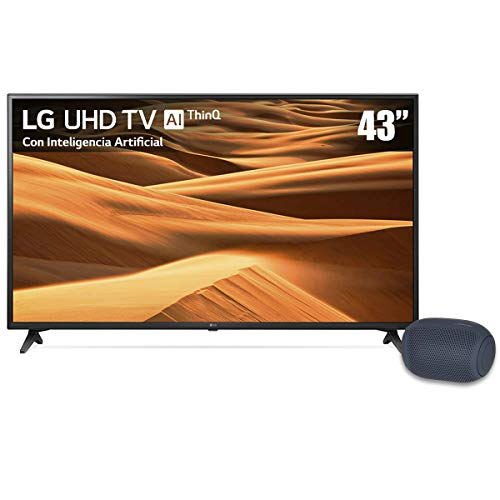TV LG 43' 4K UHD Smart Tv LED 43UM7100PUA más Bocina portátil XBOOM Go PL2