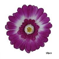 人工リース、無毒で繊細で耐久性のあるプラスチック(Deep purple (10 flowers))