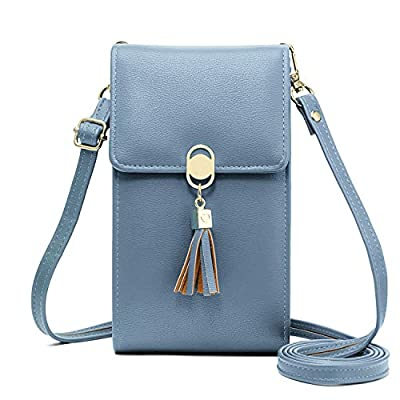 KOFNEKA Small Crossbody Bag Cell Phone Purse Wallet with Credit Card Slots for Women