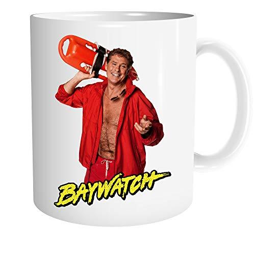Uglyshirt89 Baywatch Tasse | Kaffeetasse Teetasse Geschenk David Hasselhoff Lifeguard Retro Kult | M2