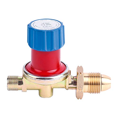 Greenfields Régulateur de gaz GPL propane Réglable 0,5-4 bar G3/8 LH Débit bouteille de propane Régulateur réglable pour torches à gaz et tuyaux de soudure Accessoires