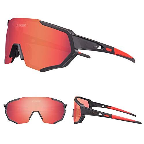 ZYQDRZ Polarisierte Sportbrille Für Männer, Sonnenbrille Mit 3 Wechselgläsern Für Golf-Sonnenbrillen Zum Angeln Im Freien,C