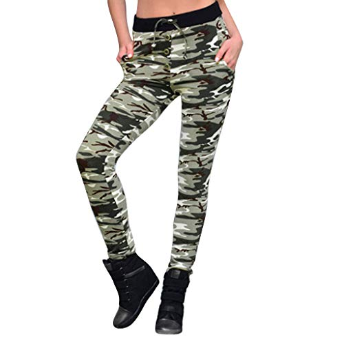 Pantalones Deporte Mujer Sexy,Mallas Mujer Leggins Leggings de Running de Yoga Camuflaje para Mujer Pantalones Deportivos Camo Stitching Polainas de Fitness