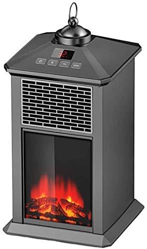 Haojie Elektro-Kamin Heizung für Innenraum, freistehend Kamin-Ofen mit realistischem Flammenbild, Überhitzung Sicherheitsschutz Herd Feuer