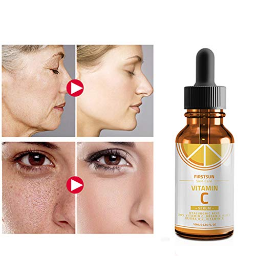 Metermall Vitamin C Hyaluronic Acid Face Serum Anti Aging Fade Dark Spot Moisturizing Essence