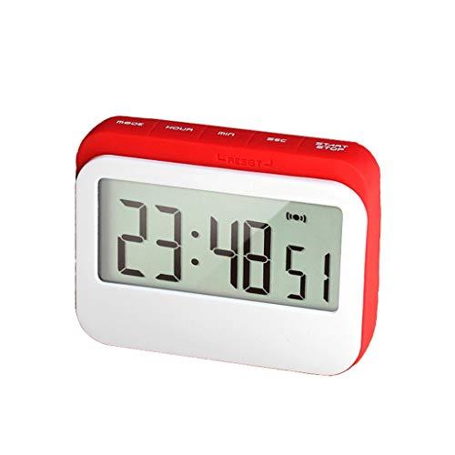Blanc Alarme Haute Rakii Minuterie de Cuisine num/érique avec /écran LED Retour Forte Magn/étique Longue Veille