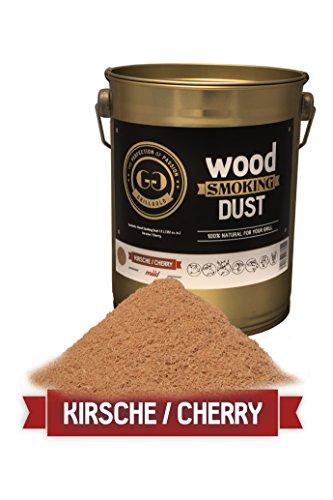 Grillgold Räuchermehl Wood Smoking Dust. Zum räuchen und kalträuchern von Fisch, Fleisch und Gemüse auch für BBQ und Grill geeignet. In Metall-Eimer befüllt mit 2 Liter Kirsche