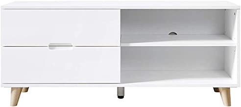 """TV Stand for TVs up to 46"""", Dimension: 47.24 x 15.55 x 19.68 Inches (White)"""