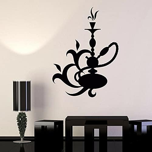 Vinilo adhesivo de pared con cachimba salón árabe shisha pegatinas de pared decoración del hogar sala de estar extraíble decoración de pared 78 x 57 cm