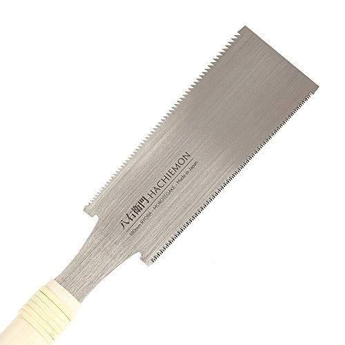HACHIEMON Japanese Ryoba Pull Saw Double Edge Hand Saw 180mm (7 Inch) for Woodworking Compact and Smoothly - MOROTEGAKE -