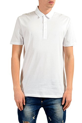 Versace Collection Men's White Short Sleeve Polo Shirt US XL IT 54