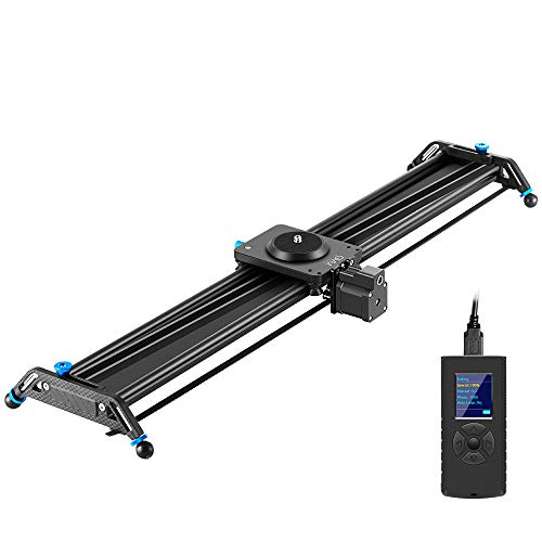 GVM Motorized Camera Slider, 31' Aluminum Alloy Track Dolly Rail Camera Slider with Tracking Shooting, 120 Degree Panoramic Shooting and Time-Lapse Photography for Most DSLR Cameras, Load up to 22lbs