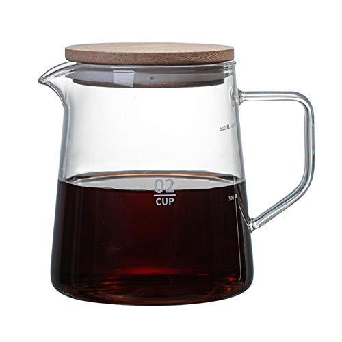 K-Park PersonukXD jarra de cristal resistente al calor jarra de vidrio con tapa para el hogar, tetera de vidrio, jarra de café para café, té caliente, linda