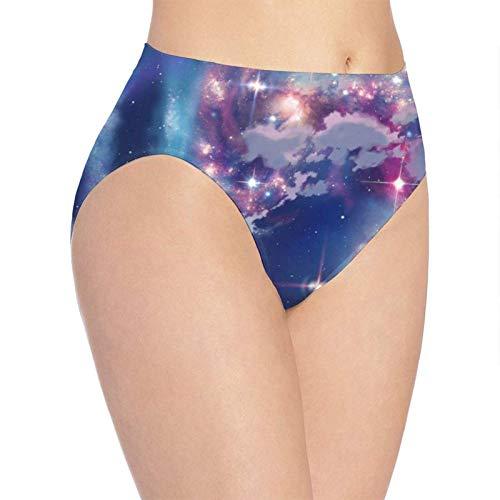 XCNGG Höschen Damenunterwäsche 3D Print Soft Women's Underwear, Galaxy Space Fashion Flirty Lady's Panties Briefs