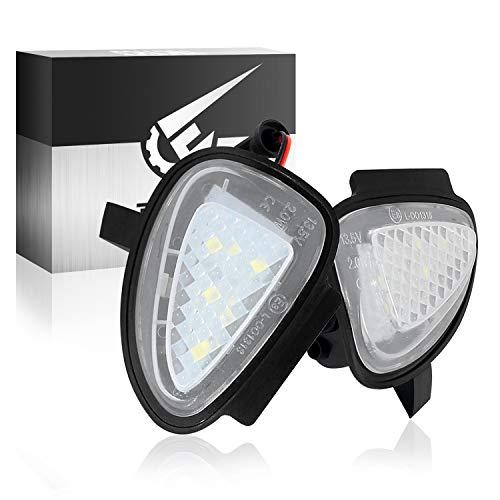 TECTICO Luces LED Espejo lateral Coche, luz trasera sin error 6000K blanco para Golf 6, 2 piezas
