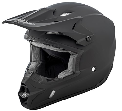 FLY Racing Kinetic Solid Helmet, Full-Face Helmet for Motocross, Off-Road, ATV, UTV, Bicycle and More (Matte Black, XX-Large)