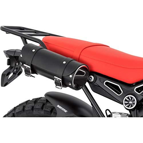 Stoverinck Hecktasche Motorrad Motorradtasche Lederwerkzeugrolle Borchia 2,5 Liter Stauraum schwarz, Unisex, Chopper/Cruiser, Ganzjährig