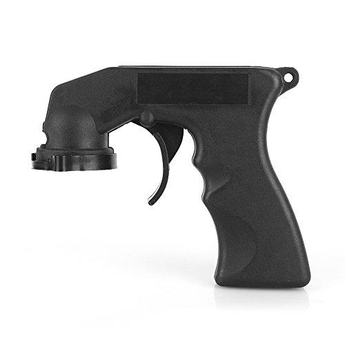 Qiilu Mango de pistola,adaptador de spray aerosol spray pistola mango con Grip completa disparador cierre coche mantenimiento