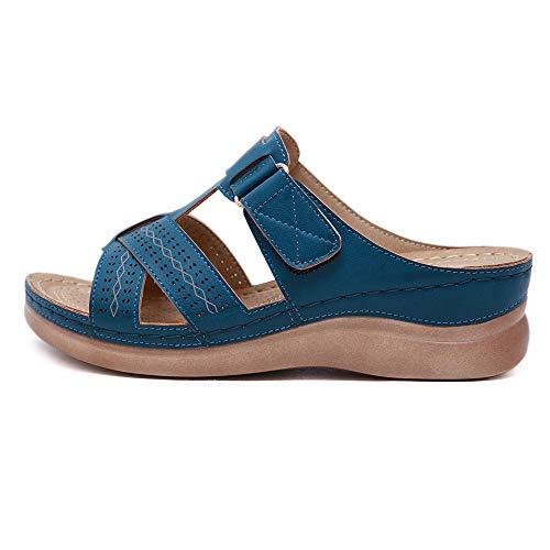 Nuevo Estilo Sandalias Antideslizantes Femeninas Zapatos De Madre De Gran Tamaño Retro Tacón De Cuña Zapatillas Femeninas Verano Nuevo Ligero Antideslizante Desgaste Sandalias Femeninas De Agua Mojada