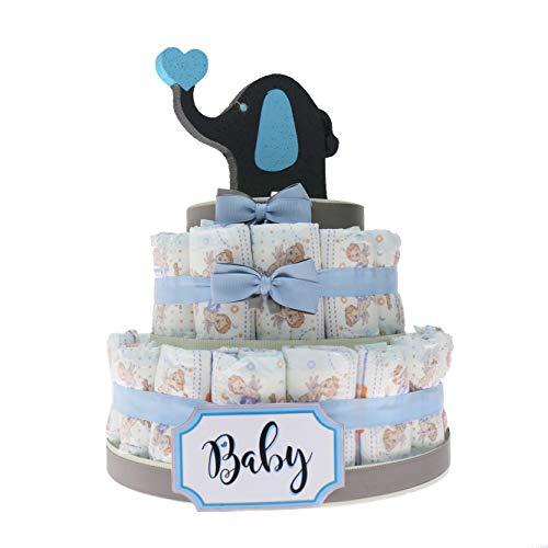 Torta Pannolini Idea Regalo Economico Bimbo, Baby Shower Idea Originale Nascita Neonato (Torta da 30 Pannolini)