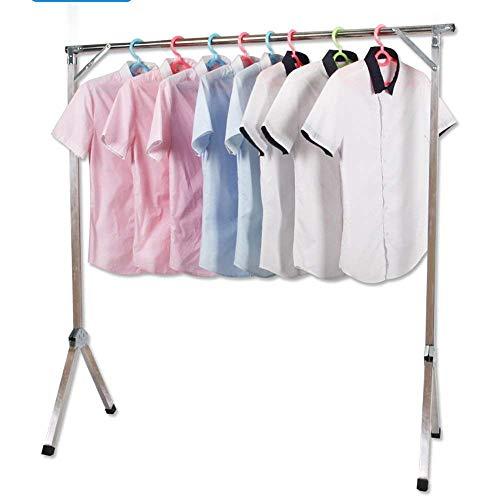 FF Hangers voor het drogen van rekken Airer Droogrek Roestvrijstaal enkele vloer beugels Indoor hangers Vouwen balkon kapstok voor slaapkamer Coat rack