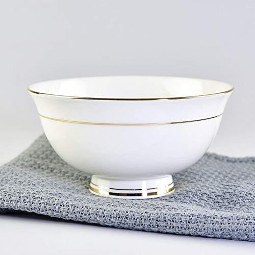 CAIJINJIN Tazón HQY Plato de Arroz de cubiertos Phnom bowl cerámica for el hogar regalos, blanco, un tamaño