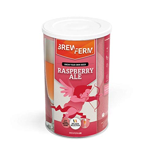 Brewferm® Kit de cerveza'Rasberry A' – 12 litros de cerveza refrescante con aroma afrutado de frambuesa