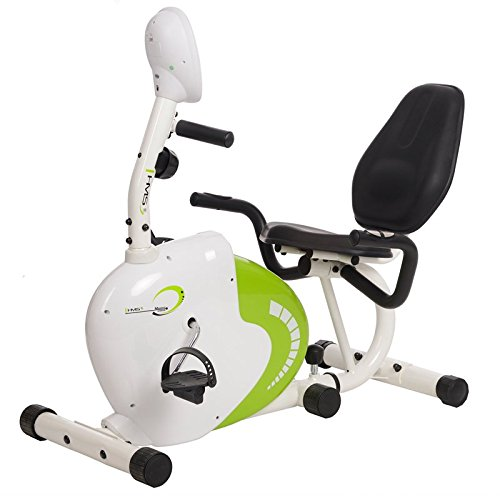 HMS R9259 Recumbent Magnetic Bike, White/Green, One Size
