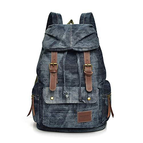 GFDFD Laptop Bag for Men and Women,Canvas Leather Shoulder Bag for Work School ,Laptop Backpack,Business Travel Anti Theft Slim Durable Laptops Backpack, College School Computer Bag for Women & Men L