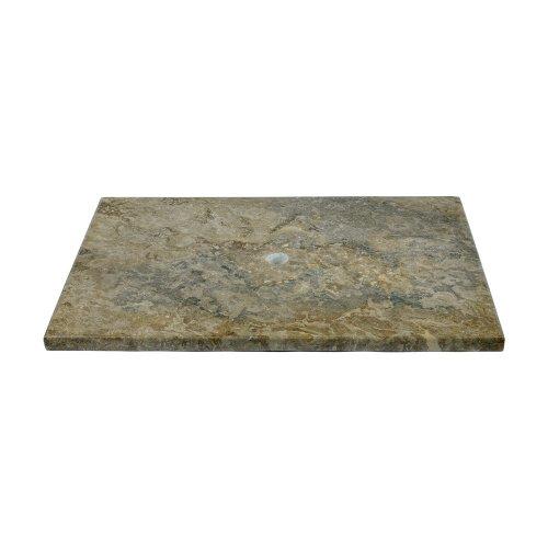 wohnfreuden Marmor Waschtisch-Platte grau 80x52x3 cm massiv ✓ Marmorplatte Waschbecken Bad