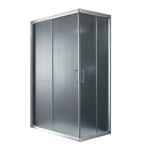 Cabina de ducha rectangular de 80 x 120 x 198 cm y altura de 198 cm, estampado C de 6 mm