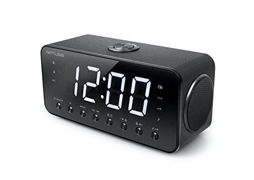 Muse M-192 CR Uhrenradio mit Jumbo Display Dual Alarm (Schlummer/Einschlaf/NAP-Funktion) schwarz