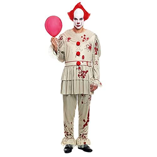 Disfraz Payaso Asesino Adulto Retro [Talla S]Tallas S a LTraje Clown Topos Halloween Disfraces Halloween para Hombre