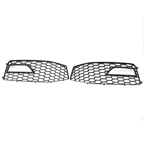 1 Paia Sinistra Destra Paraurti Anteriore Griglia Della Luce Nebbia Copertura Della Lampada A Nido D'ape Grill per Audi A4 B8.5 S-Line S4 2013-2015