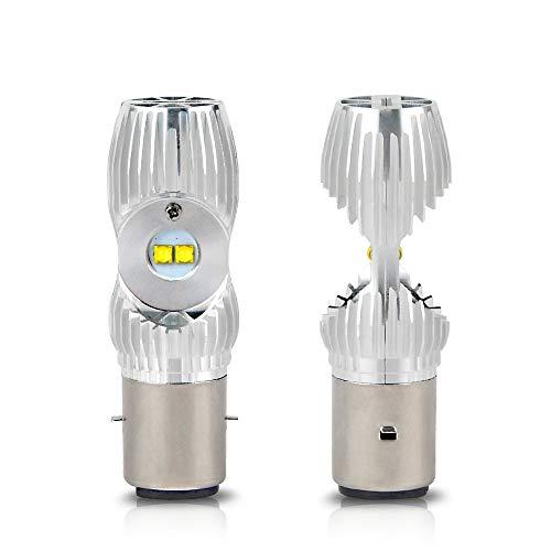 H2Racing Moto BA20D H6 LED Bombillas Faros Delanteros Hi/Low Beam,2000LM/Pair 6000K Blanco Frío led Lámpara Reemplace la bombilla halógena