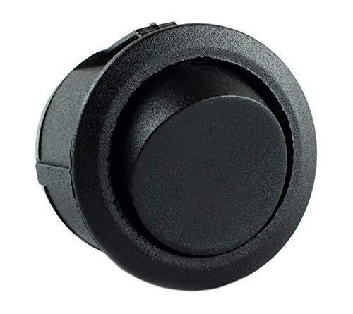 edi-tronic Wippschalter rund klein 1-polig 250V 6A EIN/AUS Snap-In Montage Einbaumaß Ø 20,2mm