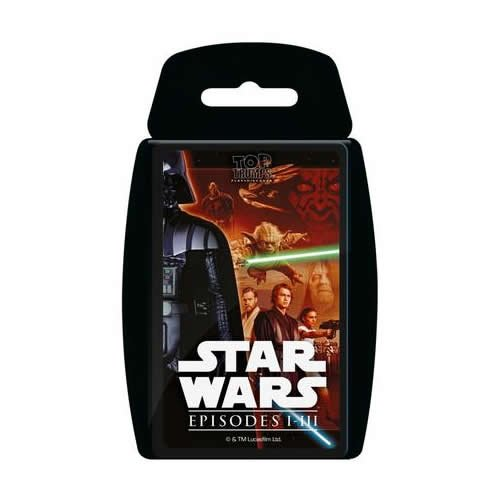 Winning Moves 13735 Episode 1–3 Kartenspiel, Top Trumps: Star Wars I-III